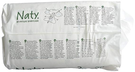 Naty by nature babycare - Pañales para niño, tamaño 3 (4-9 kg), 4 paquetes (4 x 31 unidades): Amazon.es: Salud y cuidado personal