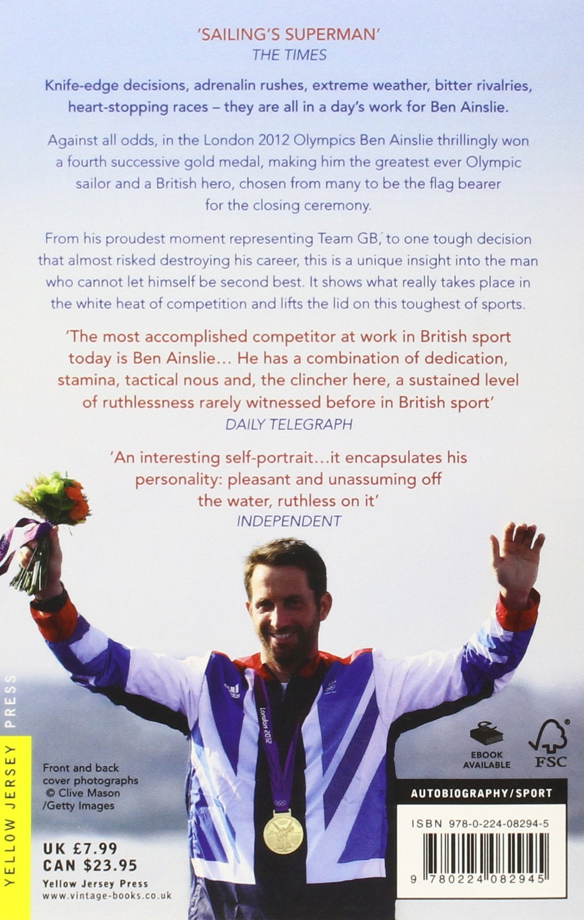 Close To The Wind: Britain's Greatest Olympic Sailor: Amazon: Ben  Ainslie: 9780224082945: Books
