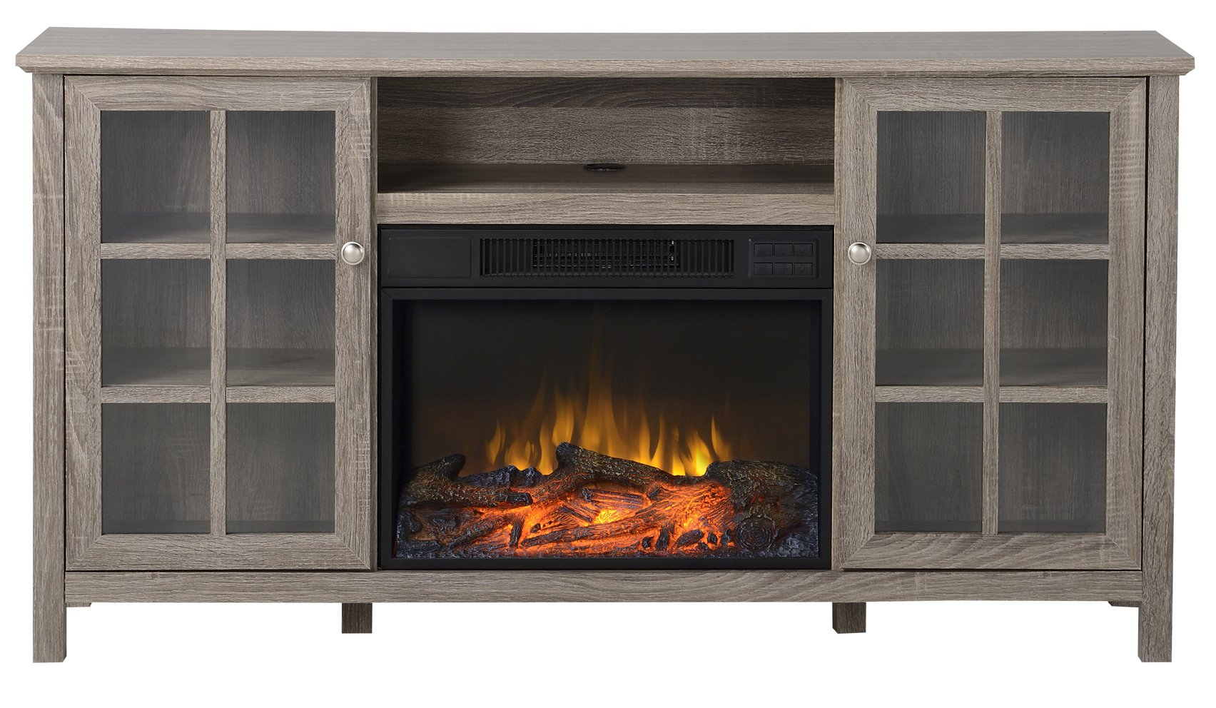 Homestar Provence 60'' Wide Media Fireplace in Reclaimed Wood