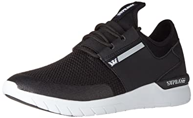f17731124225 Supra Flow Run Skate Shoe Black White