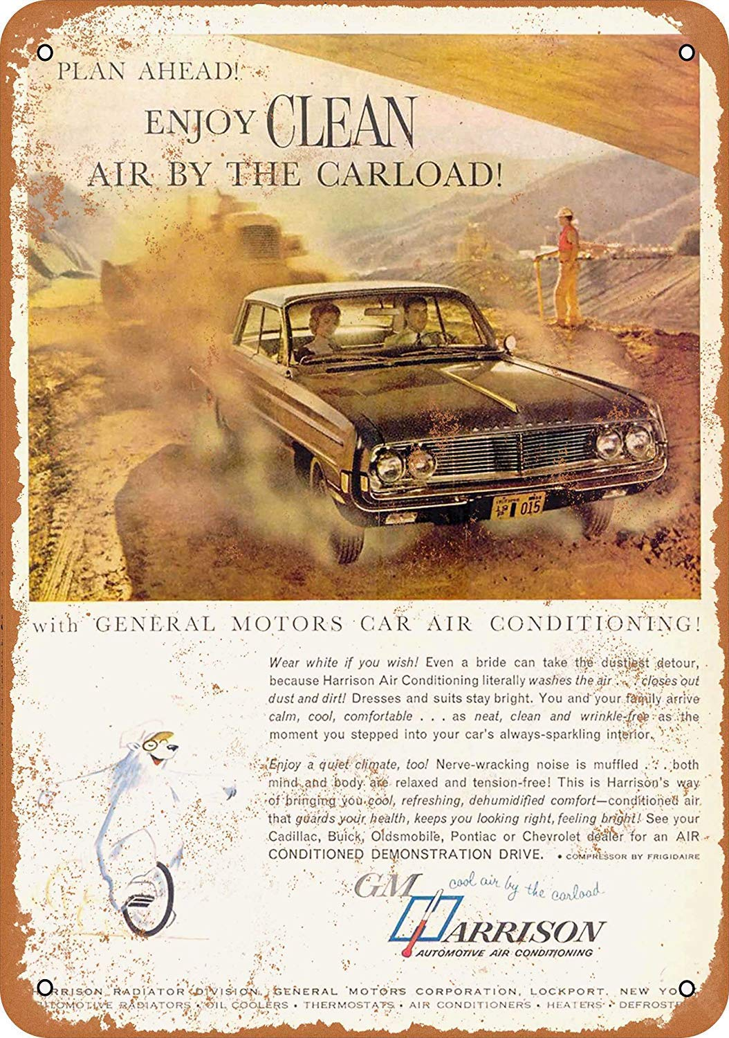Kia Haop 1962 General Motors Air Car Conditioning Metal ...