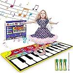 Renfox Kids Musical Piano Mats - Dance & Learn Keyboard Play