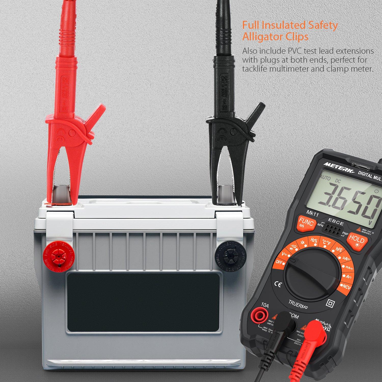 prueba de diodo 4000 cuentas Pinza Digital Mult/ímetro Meterk medida amper/ímetro ohm/ímetro con corriente y voltaje CA//CC,NCV ciclo de trabajo auto o manual alcance