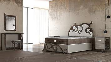 Amazon.de: Schlichter Möbel Boxspringbett Industrial Design ...