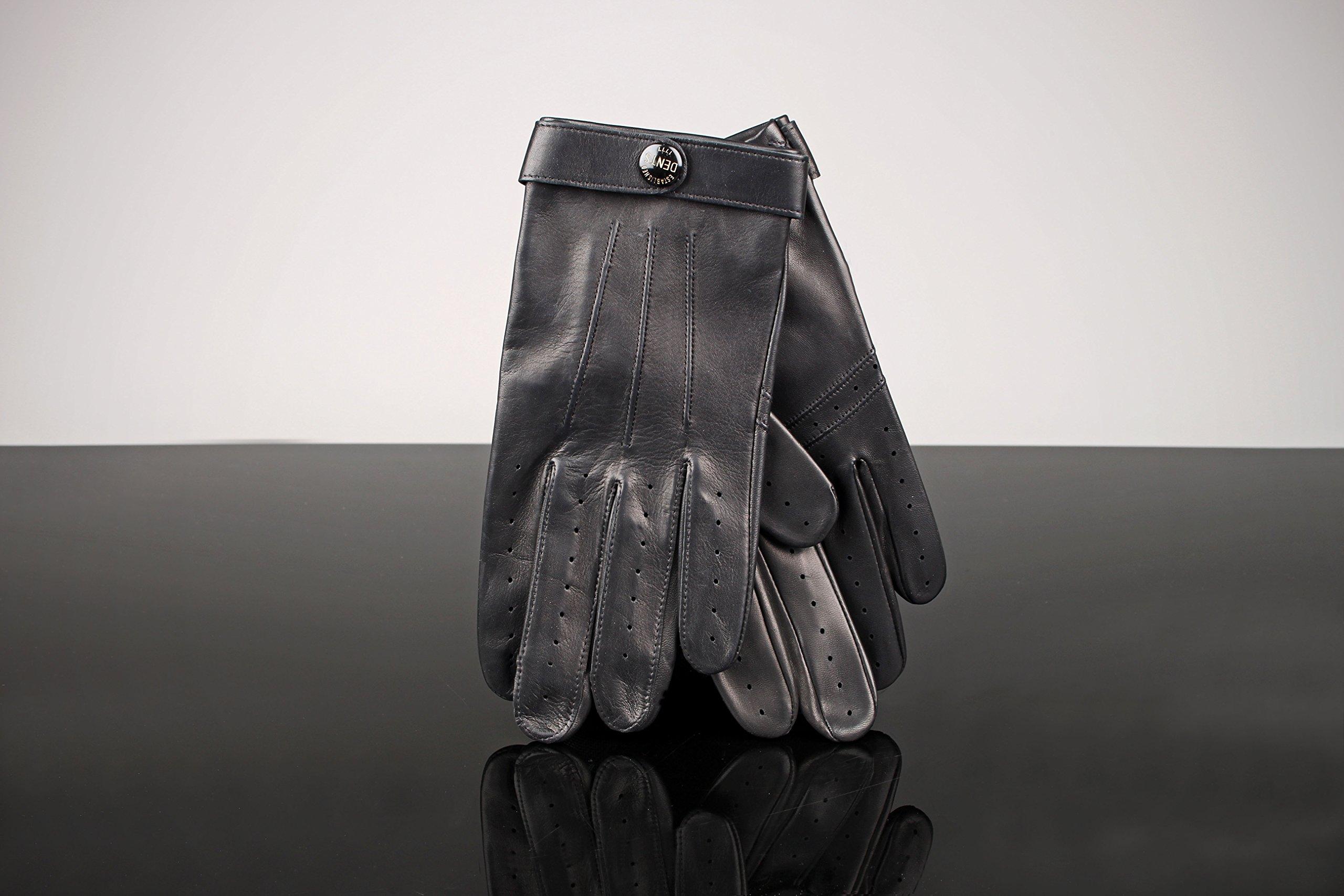 DENTS James Bond Spectre Leather Gloves 15-1007 - Black - XL