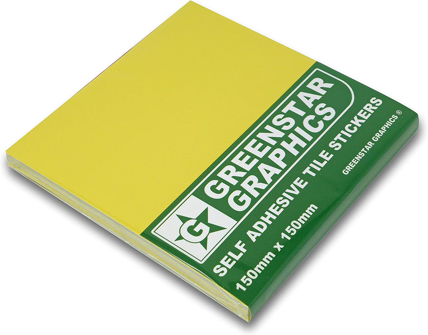 """GREENSTAR GRAPHICS /® PACK OF 50 - TILE STICKERS CHOOSE YOUR COLOUR 150mm x 150mm 50 BUTTER CREAM Peel /& Stick Tile Transfer Stickers Easy DIY To Fit 6/"""" inch Square Kitchen // Bathroom Tiles"""