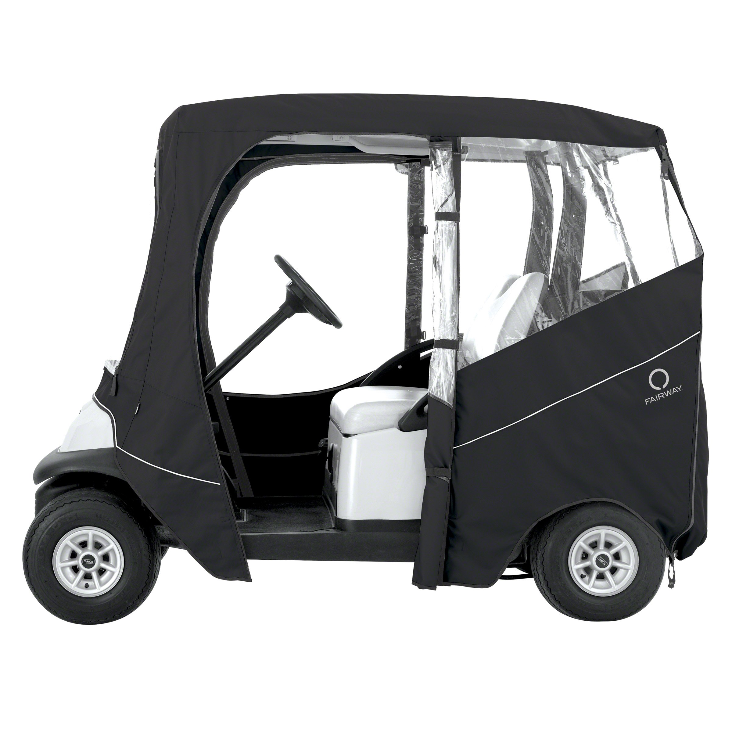 Classic Accessories Fairway Golf Cart Deluxe Enclosure, Black, Short Roof by Classic Accessories (Image #6)