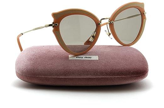 de993908b6ec2 Amazon.com  Miu Miu MU 05SS NOIR Collection Butterfly Women Silk Sunglasses  (Light Brown Lens VHZ5J2