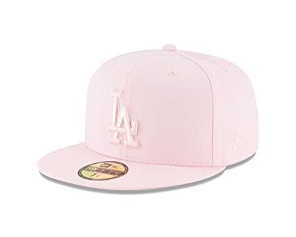 6746a96f0eb8c New Era Los Angeles Dodgers Tonal Pastel PINK Fitted 59Fifty MLB Hat (7 1