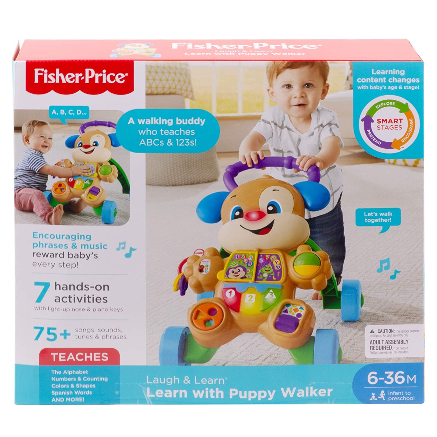 Amazon.com: Fisher-Price Walker Puppy First Steps, Baby ...