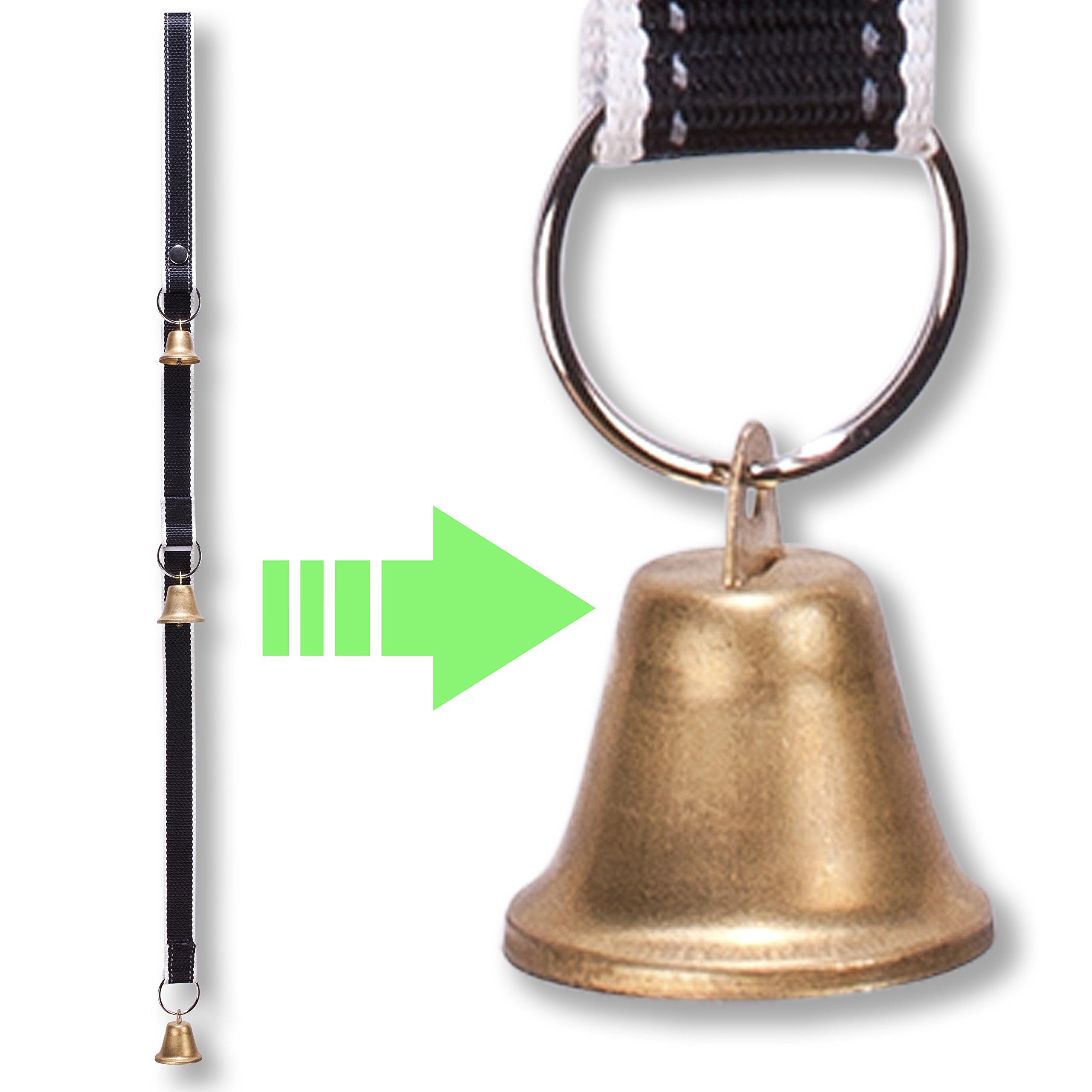 PetsLovers Dog Potty Training Doorbell Kit | Durable Reflective Nylon Ribbon