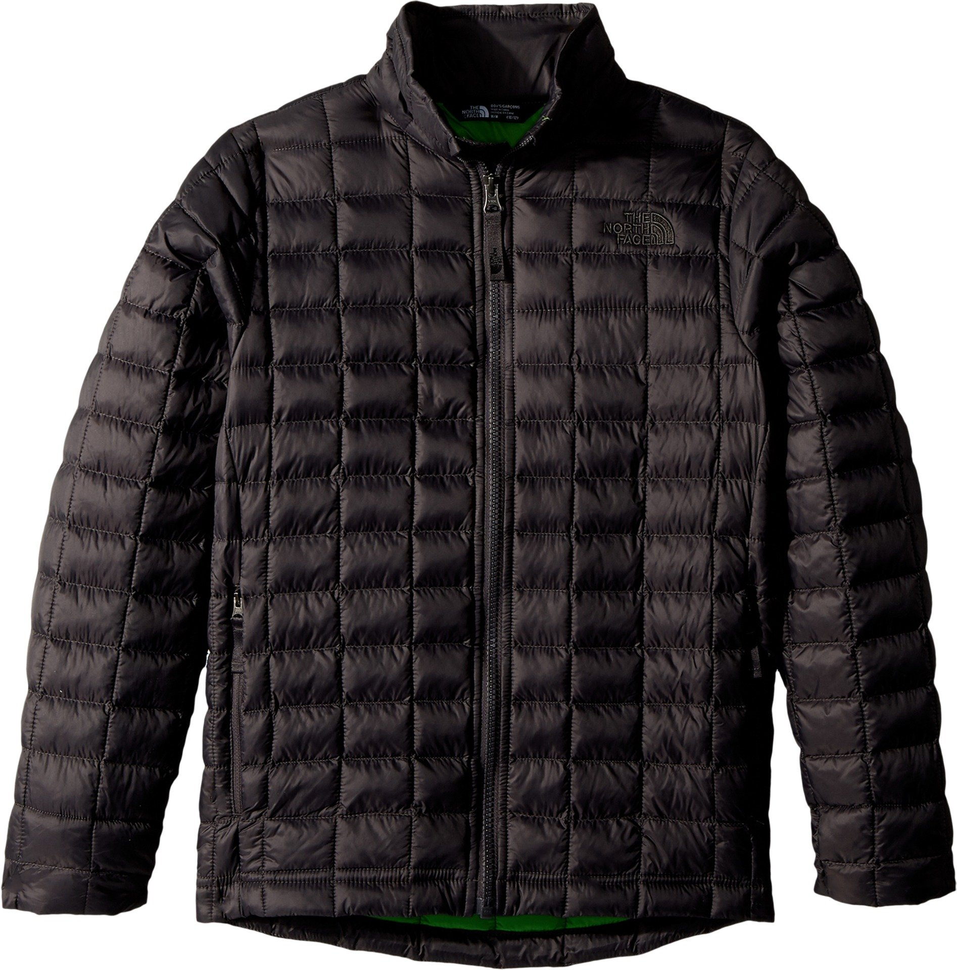 The North Face Kids Boy's Thermoball Full Zip Jacket (Little Kids/Big Kids Graphite Grey/Classic Green Medium by The North Face