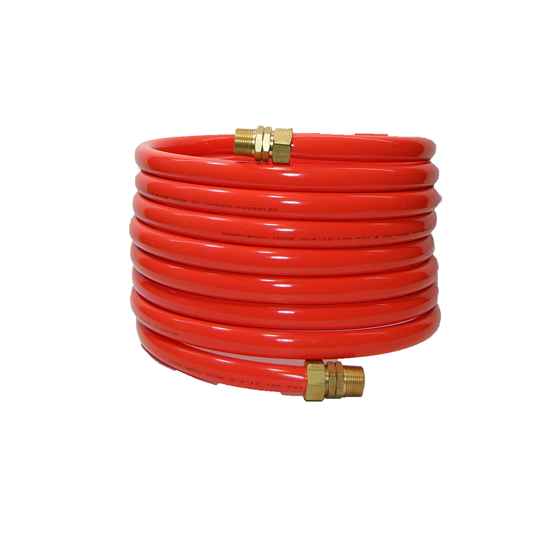 12 Length 0.875 Coil OD 185 PSI Maximum Pressure 0.75 Coil ID Plastair Industrial SBH912-91-6-U Copolymer Snapback Recoil Air Hose