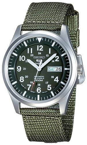 Seiko Malla Me Up 5 SPORTS Automática JAPAN Reloj SNZG09J1: Amazon.es: Relojes