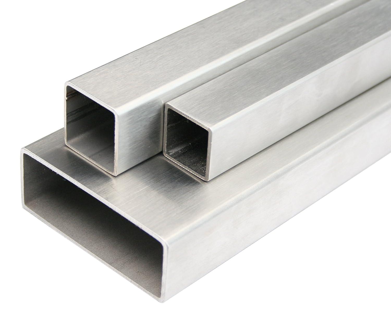 Tube rectangulaire inox affûté profilé k240 tube de construction 30x15x2mm 500mm