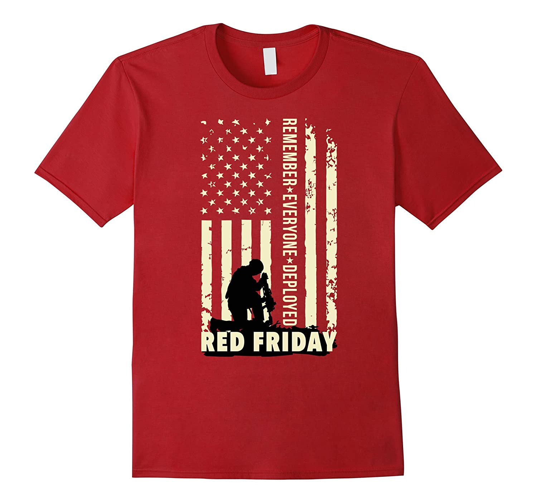 Red Friday Remember Everyone Deployed Shirt-RT