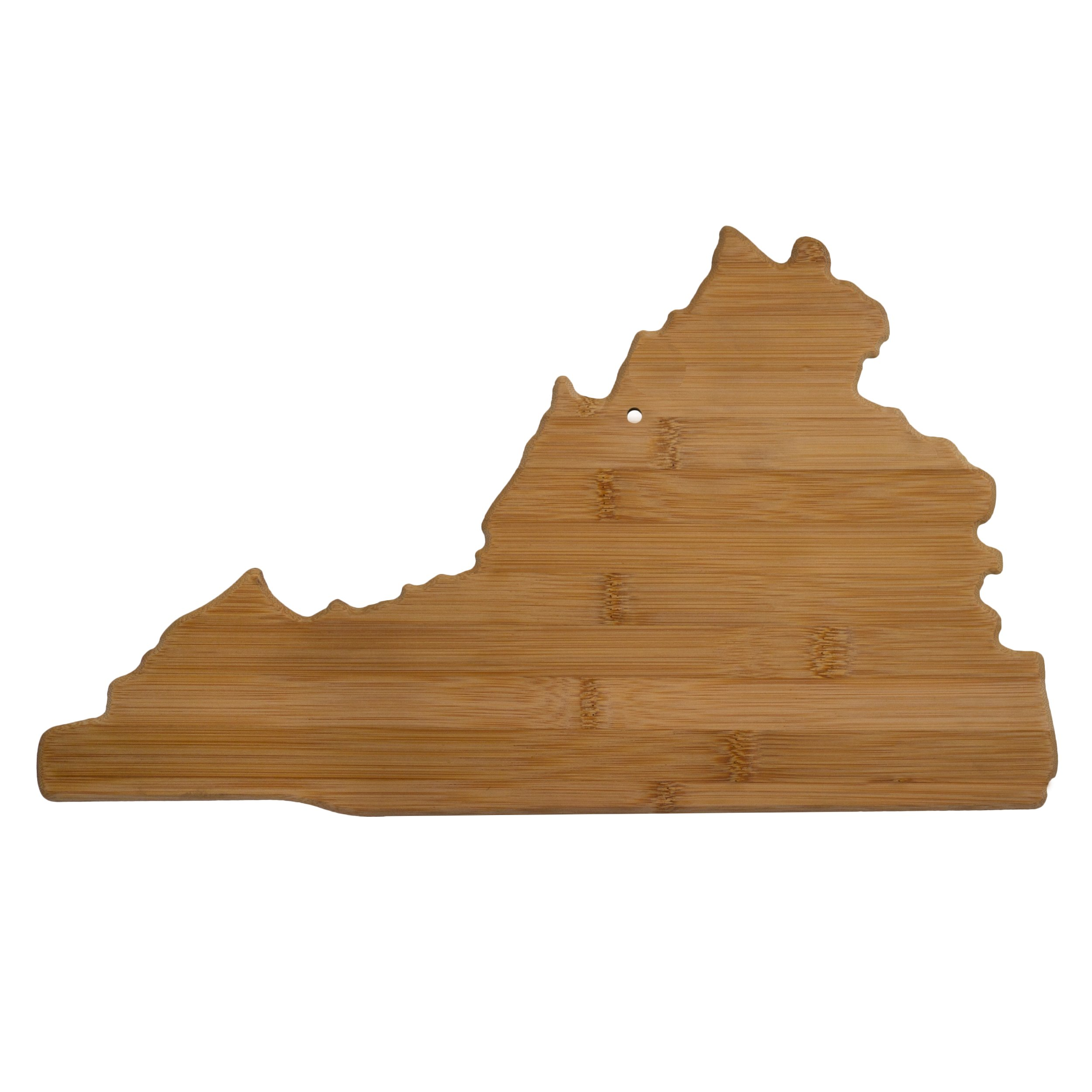 Totally Bamboo 20-7985VA Virginia State Shaped Bamboo Serving And Cutting Board, Brown