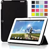 IVSO Slim Smart Cover Case for Acer Iconia A3-A20 10.1-Inch Tablet (Black)