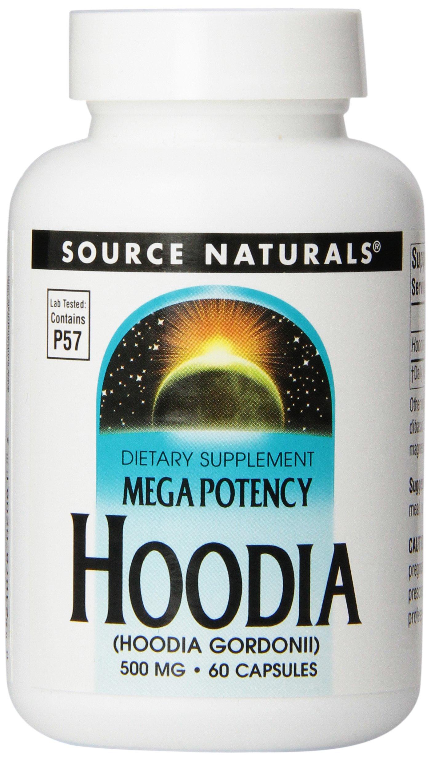 Source Naturals Mega Potency Hoodia, 500mg, 60 Capsules