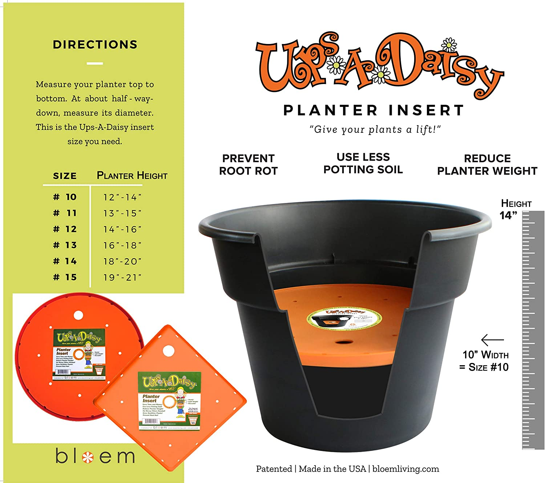 Bloem Ups-A-Daisy Square Planter Lift Insert – 11