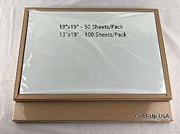 13 x 19 Inch Waterproof Inkjet Transparency Film for Silk Screen Printing -  1 Pack (100 Sheets)