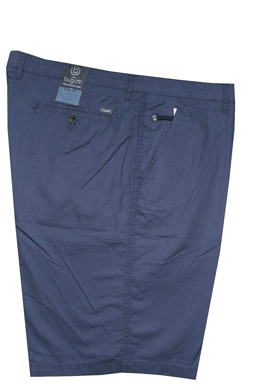 Bugatti Herren Longsleeve blau Uni 1er Pack