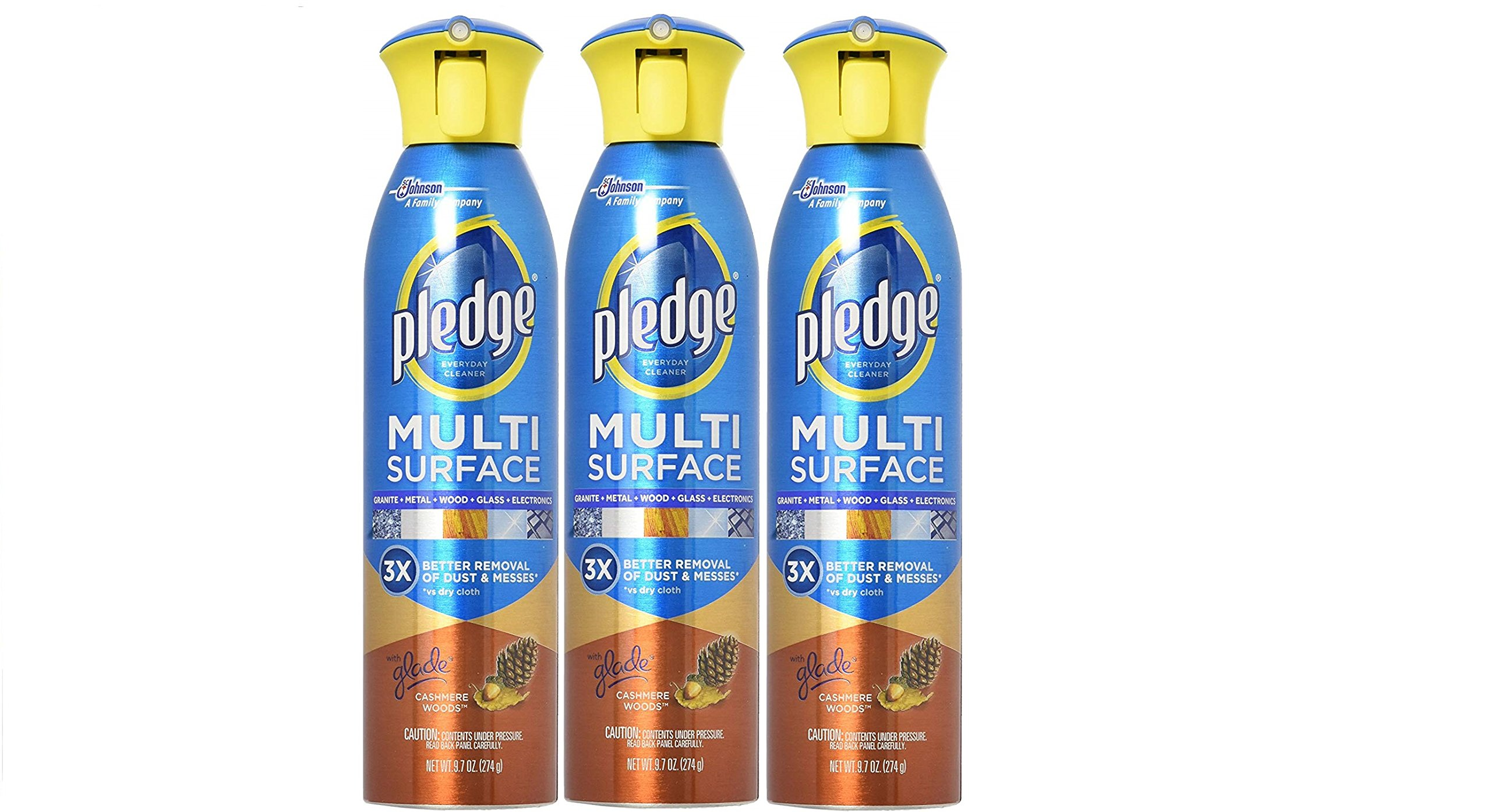 Pledge Multi Surface Everyday Cleaner with Glade Cashmere Woods 9.7 oz. (Pack - 3)