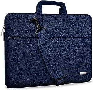 "Hseok 17.3 Inch Laptop Shoulder Bag for Most 17.3"" Dell Asus HP Lenovo Notebooks, Dark Blue"