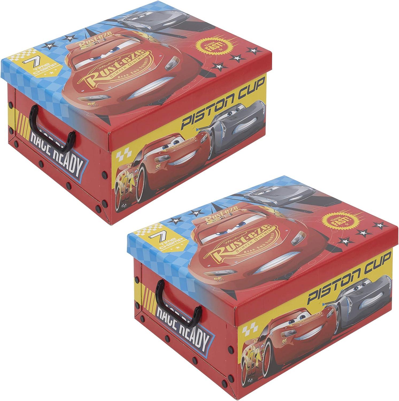 Caja de almacenamiento de juguetes para niños Disney 2 unidades ...