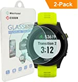 Exuun (2-Pack) Garmin Forerunner 935 Screen Protector Glass, 0.3mm Ultra-Thin 9H Hardness 2.5D Round Edge Watch Tempered Glass Screen Protector for Garmin 935