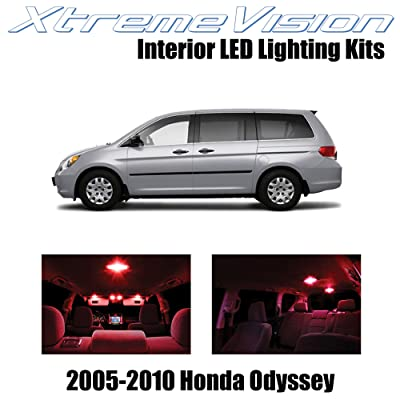 XtremeVision Interior LED for Honda Odyssey 2005-2010 (11 Pieces) Red Interior LED Kit + Installation Tool: Automotive