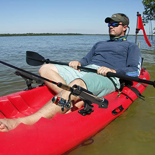 Perfeclan 1 Pair Kayak Side Mount Aluminum Slide Track Rails Hardwar for Canoe Boat Fishing Rod Pole Holder Mounting Base Solid Construction 12 inch Long