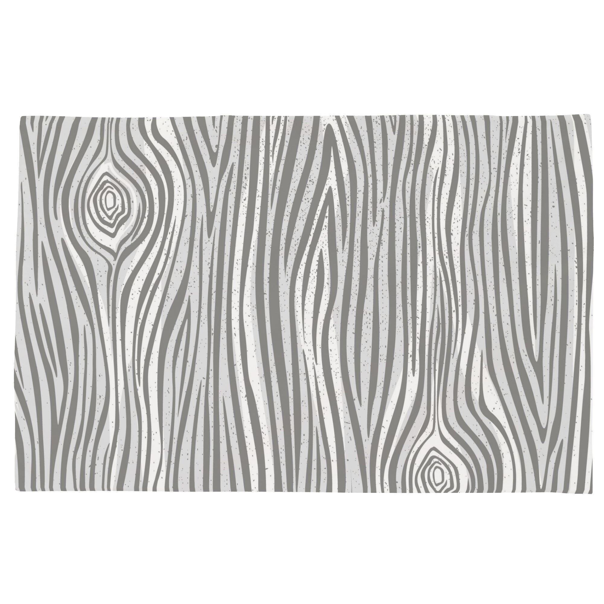 Carousel Designs Gray Large Woodgrain Toddler Bed Pillow Case