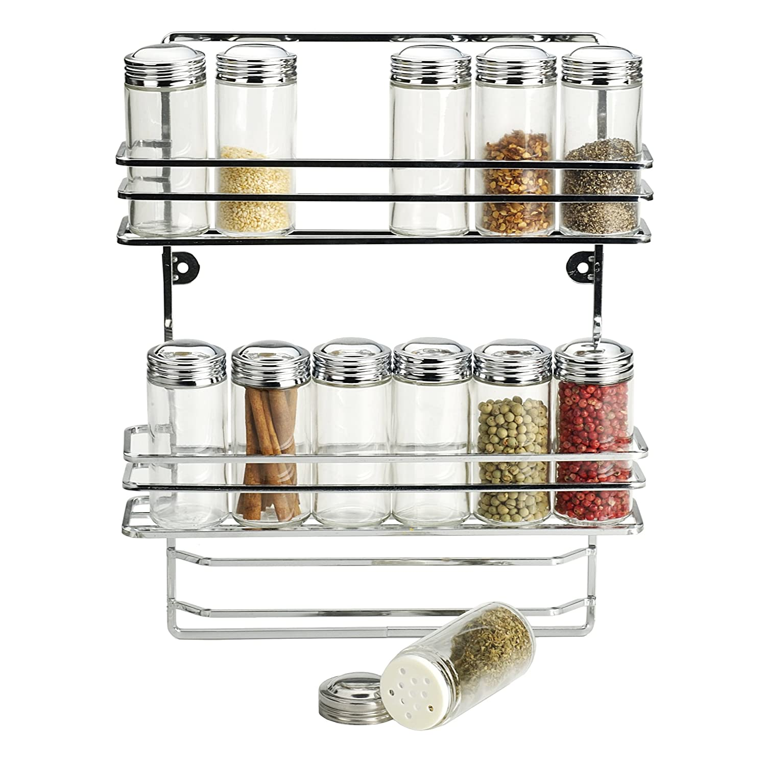 Amazon.com: RSVP International 12-bottle Endurance Wall Mount Spice Rack.:  Office Products