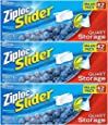 Ziploc Slider Storage Bags Quart Value Pack 42 ct (Pack Of 3)