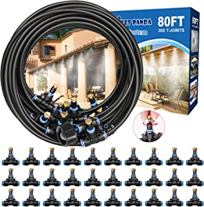 Misting System for Patio 80FT, Water Misters for Cooling Outdoor Patios, Outside Mister System, Patio Mister Hose, Backyard Mist System for Garden, Canopy, Deck, Umbrella, Greenhouse, Gazebo,Waterpark