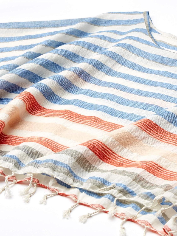 One Size Michael Stars Womens McKenzie Malibu Stripe Coverup Multi