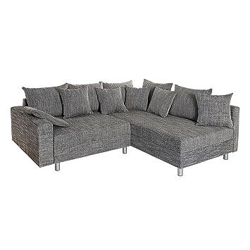 Design Ecksofa Loft Grau Strukturstoff Federkern Sofa Ot Beidseitig