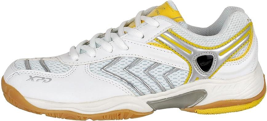 XPD Professional Sports Shoes - Zapatillas de bádminton de Material Sintético para Mujer Blanco Blanco y Amarillo: Amazon.es: Zapatos y complementos