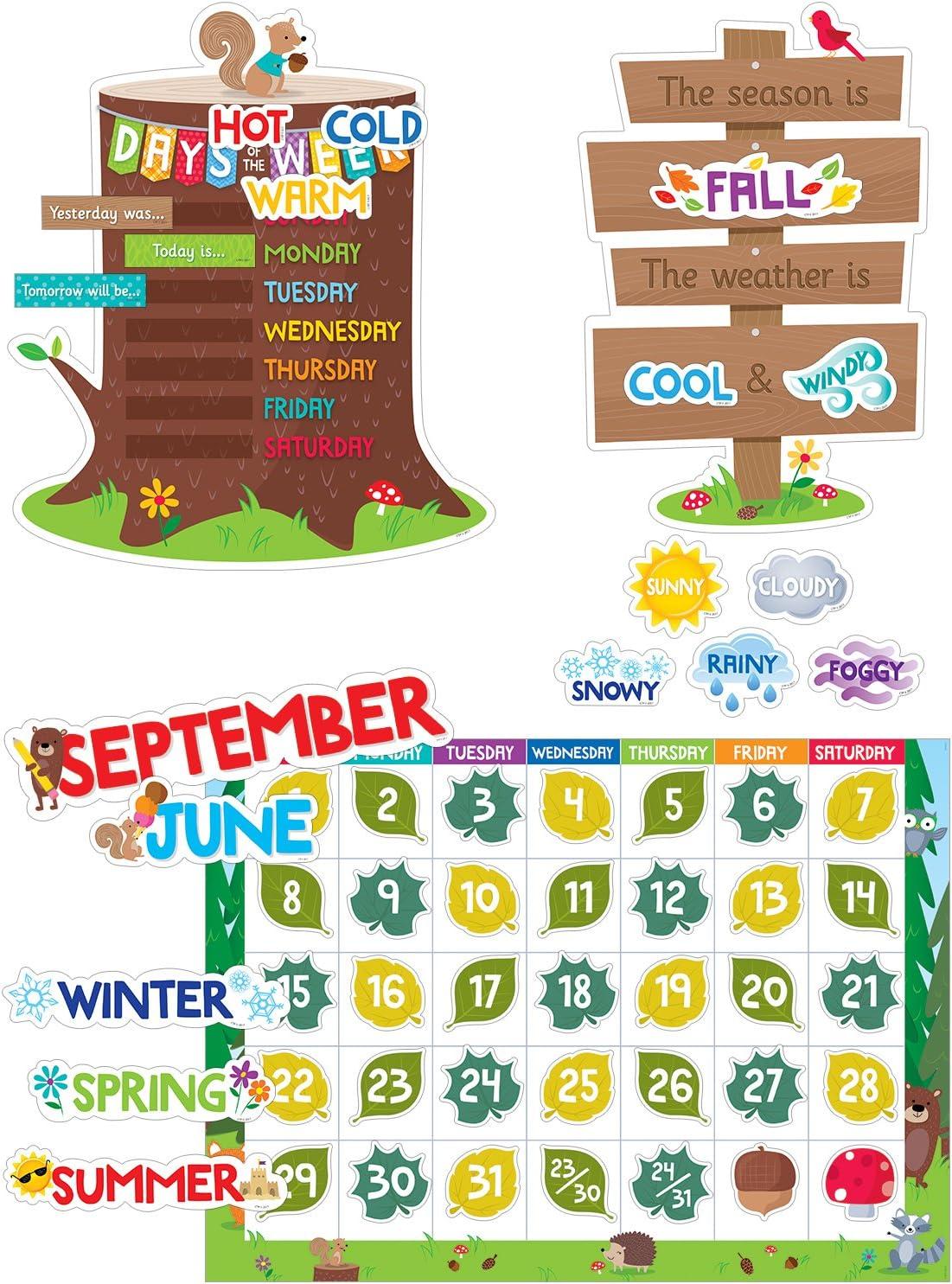 Creative Teaching Woodland Friends Calendar Set Bulletin Board (Room Displays and Decoration)