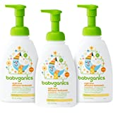 Babyganics Baby Shampoo + Body Wash, Orange Blossom, 16oz Pump Bottle (Pack of 3)
