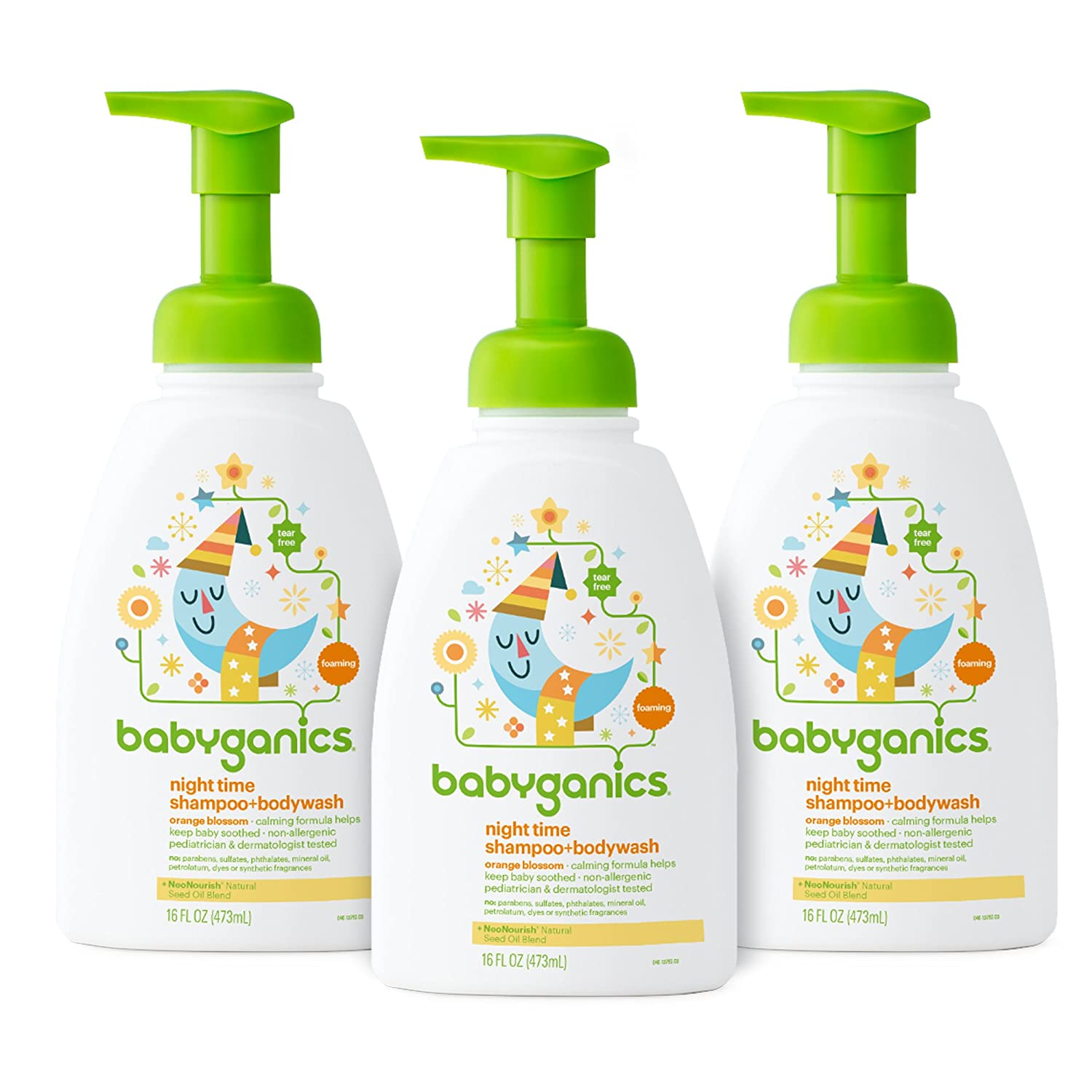 Babyganics Baby Shampoo and Body Wash, Fragrance Free, 3 Pack Baby bath products baby bubble bath Baby Ganics Baby Laundry Detergent