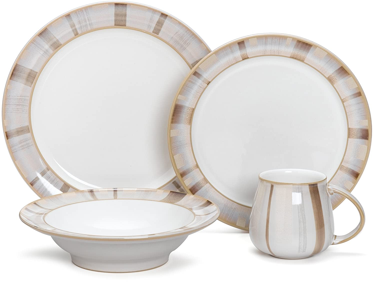 柔らかい Denby Truffle Layers 4-Piece Place 4 B001U0PC9S Setting, Service for Denby 1 by Denby 4 PC Set B001U0PC9S, ハウスダイレクトさくら:e236cd53 --- a0267596.xsph.ru