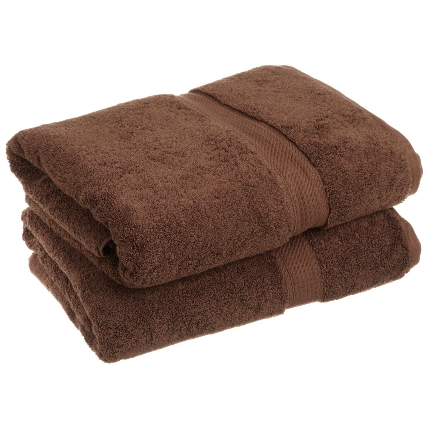 Superior 900 GSM Luxury Bathroom Towels, Made of 100% Premium Long-Staple Combed Cotton, Set of 2 Hotel & Spa Quality Bath Towels - Chocolate, 30'' x 55'' each