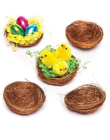 Baker Ross Mini Nidos de Pájaros (Paquete de 15) Esencial para Manualidades Decorativas de