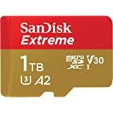 SanDisk 1TB Extreme microSDXC UHS-I Memory Card with Adapter - C10, U3, V30, 4K, A2, Micro SD - SDSQXA1-1T00-GN6MA