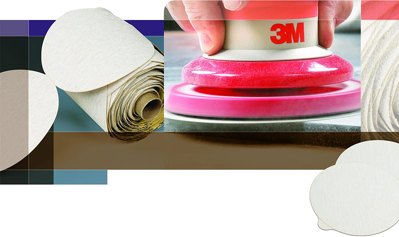 P800 Grit 3M NX PSA Paper Disc with Tab 5 Diameter Pack of 50 Aluminum Oxide