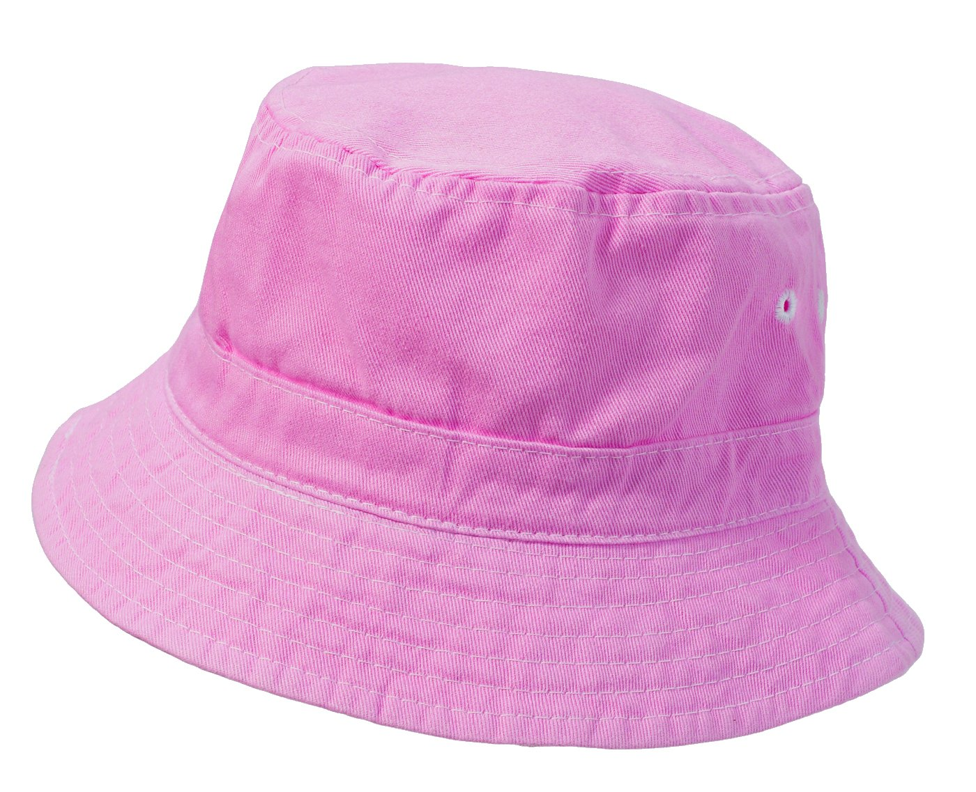 City Thread Little Boys' and Girls' Solid Wharf Hat Bucket Hat for Sun Protection SPF Beach Summer - Medium Pink - XL(4-6)