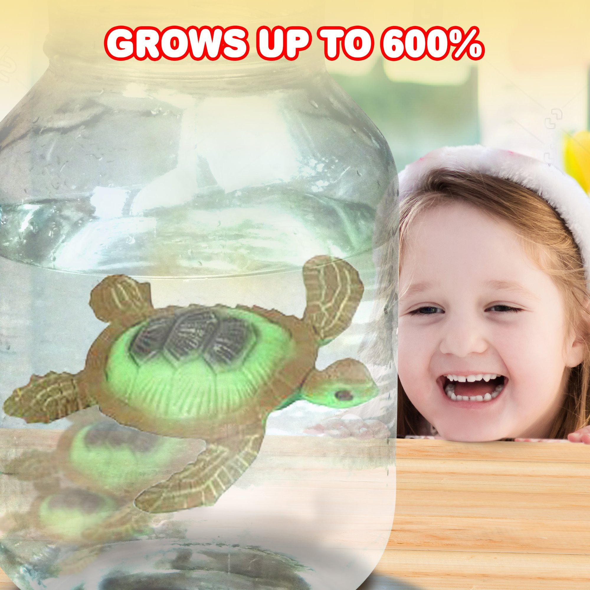 ArtCreativity Growing Sea Animals 6 Different Water Expanding Sea Creatures  Grows 6X Larger   Amazing Sensory Jelly-Like Toy   Fun & Educational Gift for Boys & Girls. by ArtCreativity (Image #6)