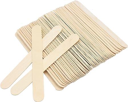 en bois Abaisse Langue Bois Jumbo Craft B/âtons de 15/cm de long 100/pcs